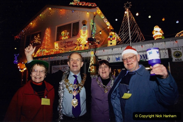 About Face Xmas Lights 2007. (59) The BIG switch on event. Your Host & Wife with the Mayor & Mayoress of Poole for the switch on.110