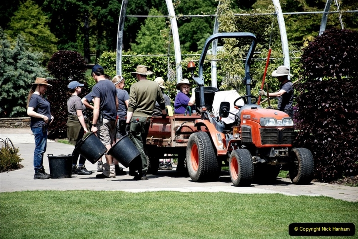 2019-05-15 RHS Wisley. (172) Lunch break for workers and visitors. 172