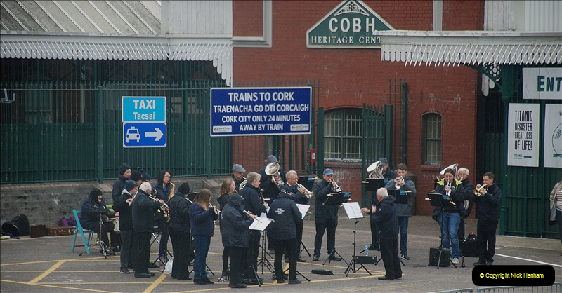 2019-04-01 & 02 Cobh - Cork - Captains Table. (252) Sailaway band on the quay.252252