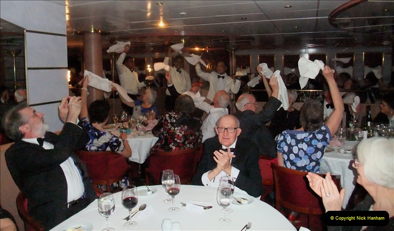 2019-04-01 & 02 Cobh - Cork - Captains Table. (255) Your Host and Wife are invited to the Captain's Table. 255255