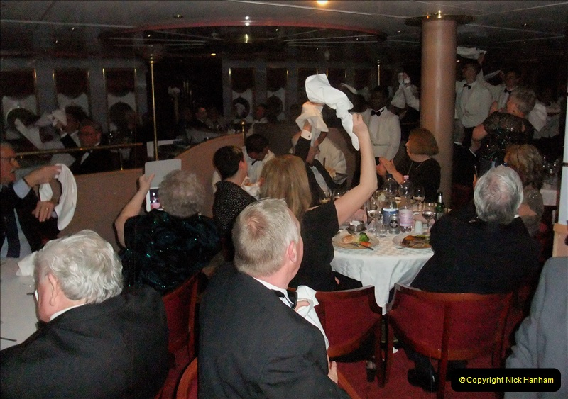 2019-04-01 & 02 Cobh - Cork - Captains Table. (256) Your Host and Wife are invited to the Captain's Table. 256256