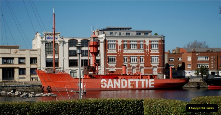 2019-04-23 to 24 Poole to Dunkirk, France. (116) The well known british lightship now retired.116