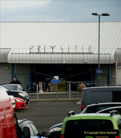 2019-03-28 Kirkwall, Orkney Islands. (28) Kirkwall Airport. Airport name in old script.028