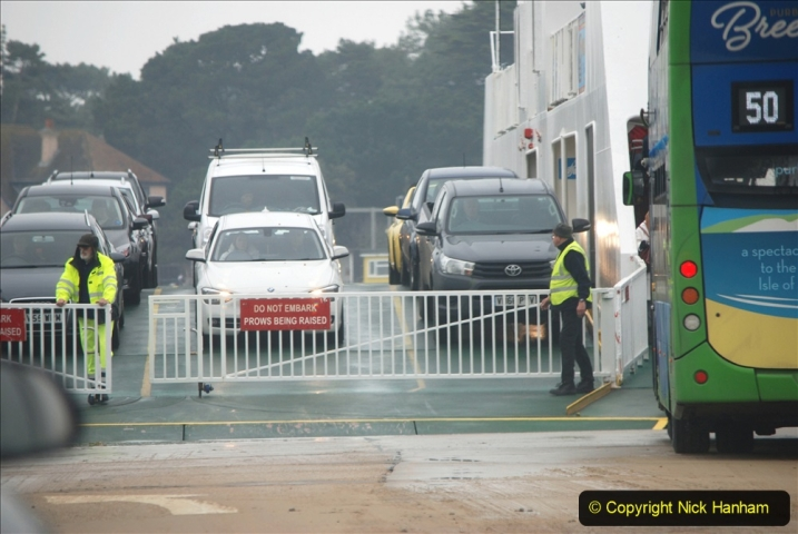 2019-10-31 Sandbanks to Studland ferry returns after a 3 month absence due to major repairs on engines. (25) Studland to Sandbanks. 025