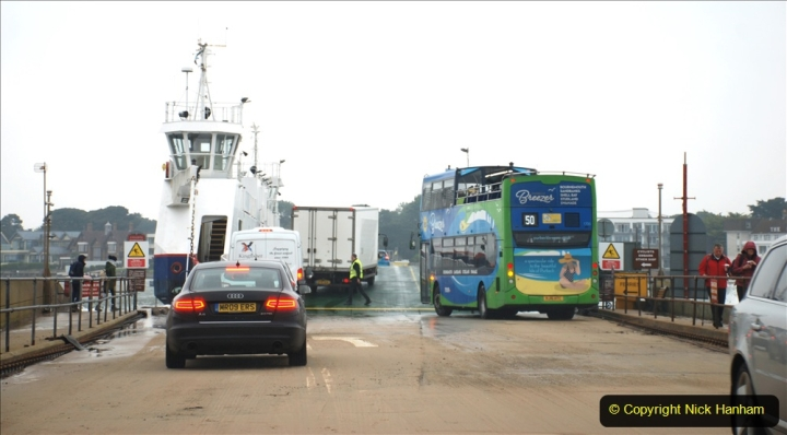 2019-10-31 Sandbanks to Studland ferry returns after a 3 month absence due to major repairs on engines. (27) Studland to Sandbanks. 027