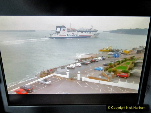 2019-10-31 Sandbanks to Studland ferry returns after a 3 month absence due to major repairs on engines. (34) Live streaming webcam at Sandbanks near the ferry loading point. 034