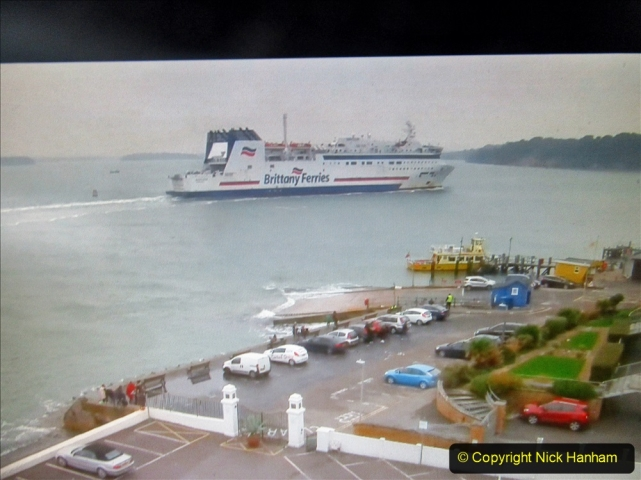 2019-10-31 Sandbanks to Studland ferry returns after a 3 month absence due to major repairs on engines. (35) Live streaming webcam at Sandbanks near the ferry loading point. 035