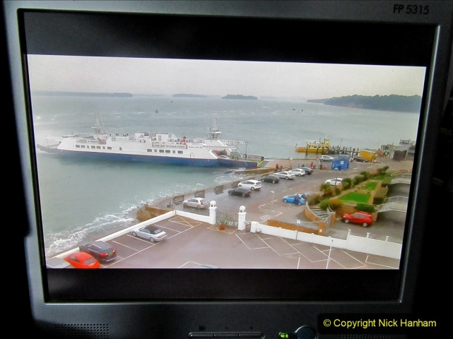 2019-10-31 Sandbanks to Studland ferry returns after a 3 month absence due to major repairs on engines. (38) Live streaming webcam at Sandbanks near the ferry loading point. 038