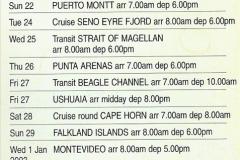 South America & The Falkland Islands.  2002 - 2003 (3)003