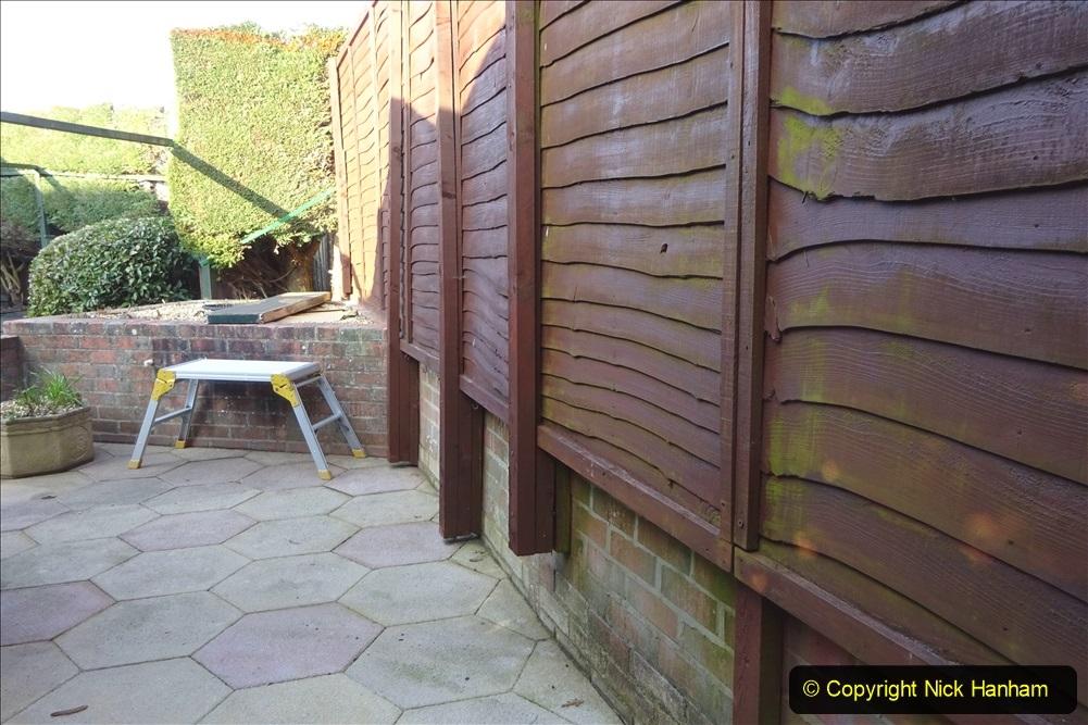 2021-03-06 New fencing for rear garden. Garden makeover. (67) 067