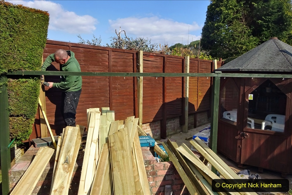 2021-03-06 New fencing for rear garden. Garden makeover. (71) 071