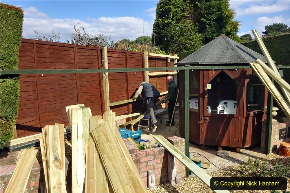 2021-03-06 New fencing for rear garden. Garden makeover. (72) 072