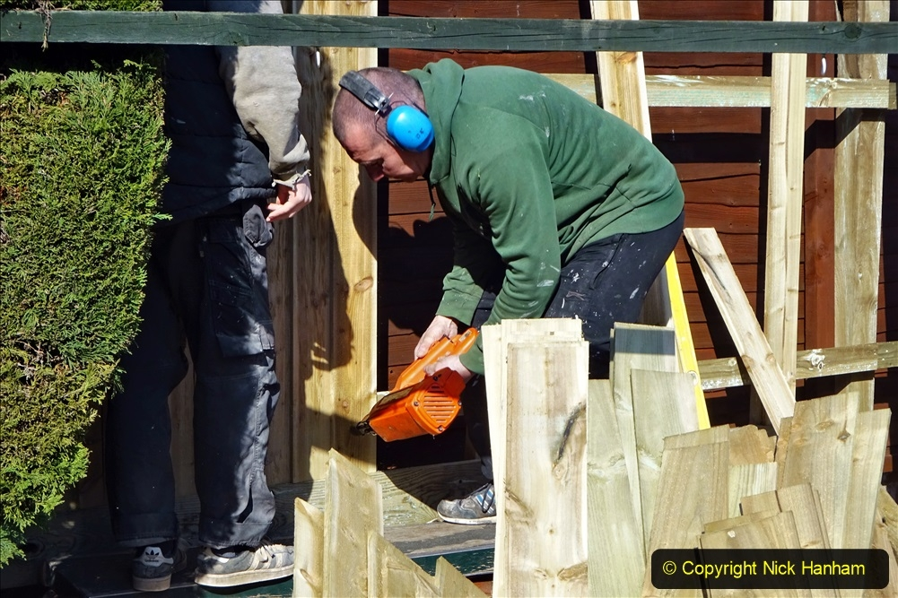 2021-03-06 New fencing for rear garden. Garden makeover. (76) 076