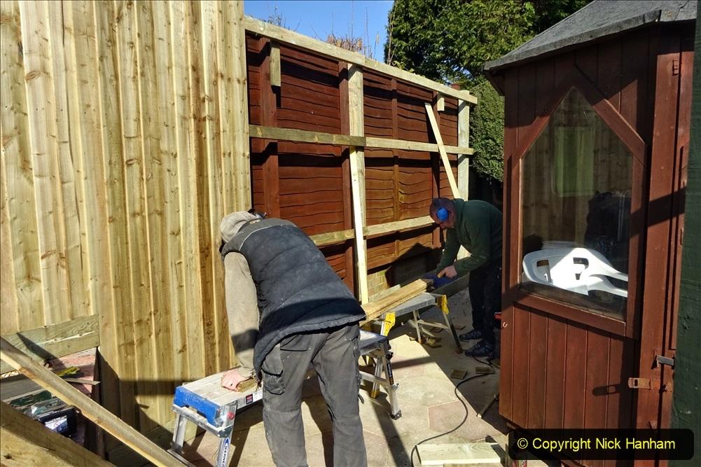 2021-03-06 New fencing for rear garden. Garden makeover. (78) 078