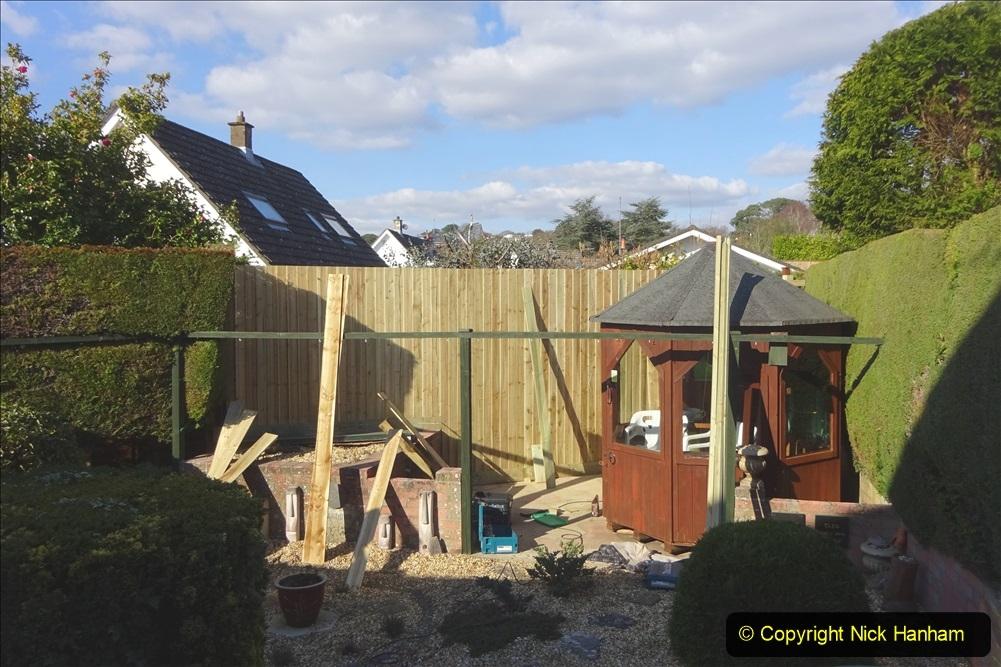 2021-03-06 New fencing for rear garden. Garden makeover. (79) 079