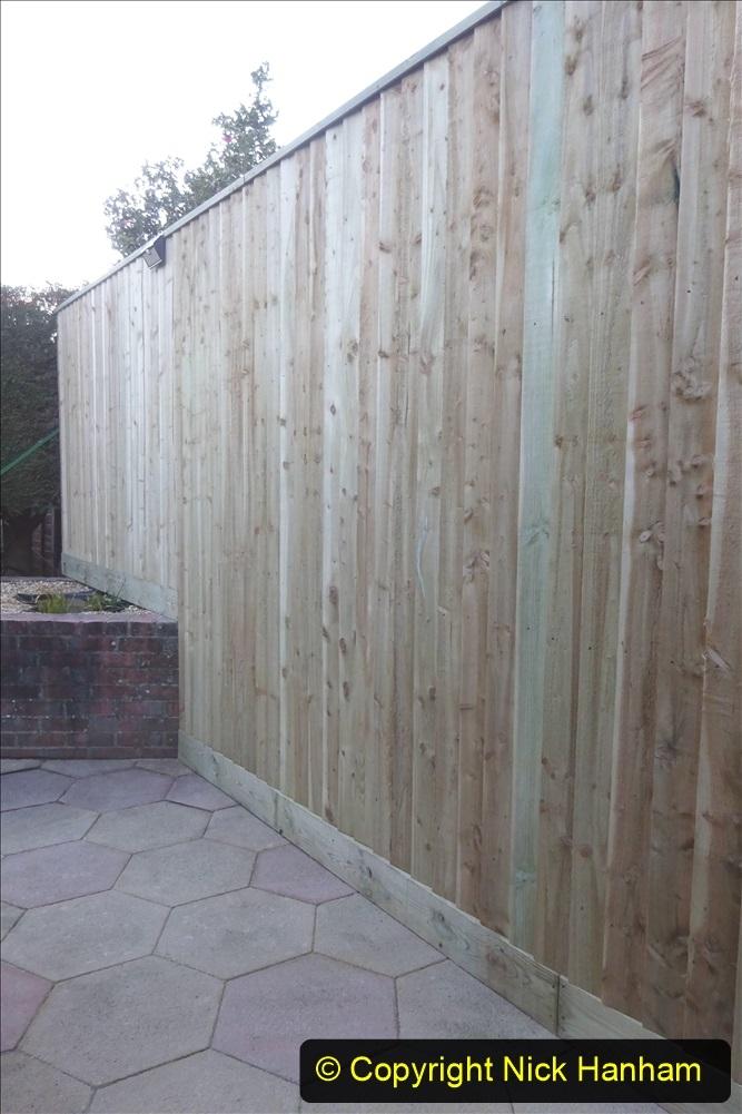 2021-03-06 New fencing for rear garden. Garden makeover. (81) 081