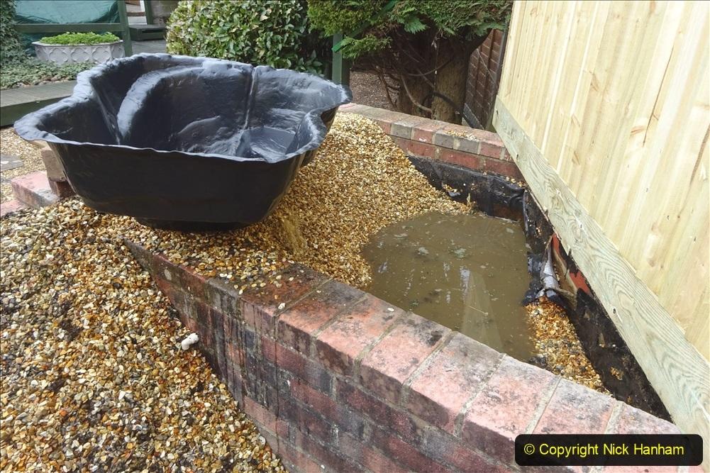 2021-03-07 New pond for rear garden. Garden makeover. (89) 089