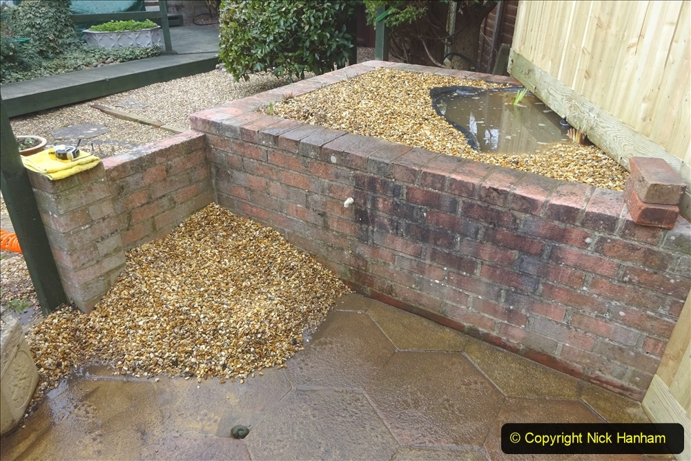 2021-03-07 New pond for rear garden. Garden makeover. (93) 093