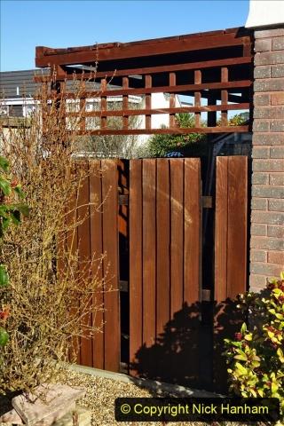 2021-02-27 New side gate for waste bins. Garden makeover. (19) 019