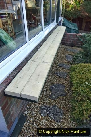 2021-03-01 New shelf outside conservatory. Garden makeover. (51) 051