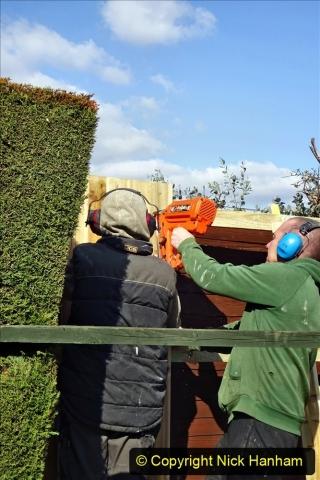2021-03-06 New fencing for rear garden. Garden makeover. (75) 075
