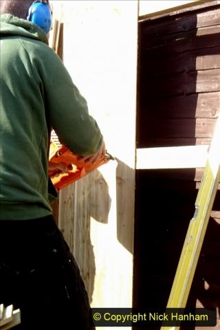 2021-03-06 New fencing for rear garden. Garden makeover. (77) 077
