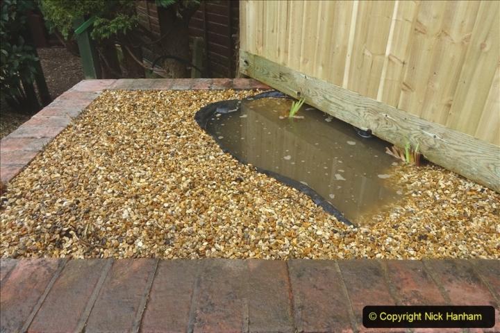 2021-03-07 New pond for rear garden. Garden makeover. (91) 091