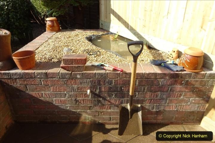 2021-03-07 New pond for rear garden. Garden makeover. (94) 094