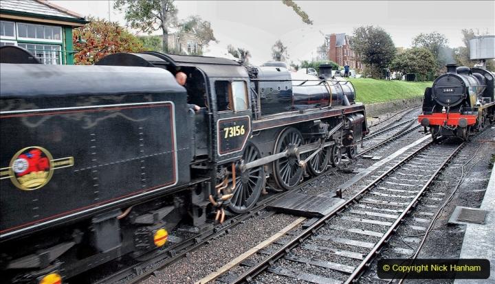 2019-10-11 Six Locomotives for the SR Autumn Steam Gala. (135) 135