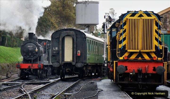 2019-10-11 Six Locomotives for the SR Autumn Steam Gala. (144) 144