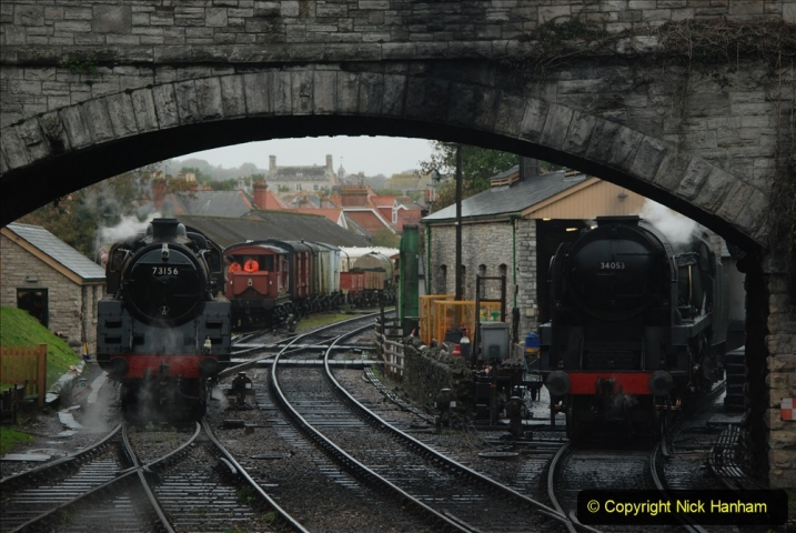 2019-10-11 Six Locomotives for the SR Autumn Steam Gala. (161) 161