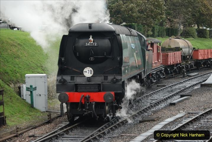 2019-10-11 Six Locomotives for the SR Autumn Steam Gala. (187) 187