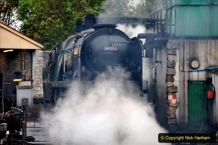 2019-10-11 Six Locomotives for the SR Autumn Steam Gala. (197) 197