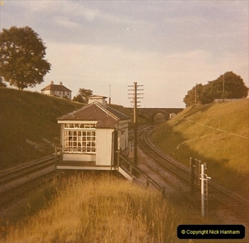 1973 The Swanage Railway.  BR Wargret Junction for the SR. The box was demolished a few years after this picture was taken. (3)0003