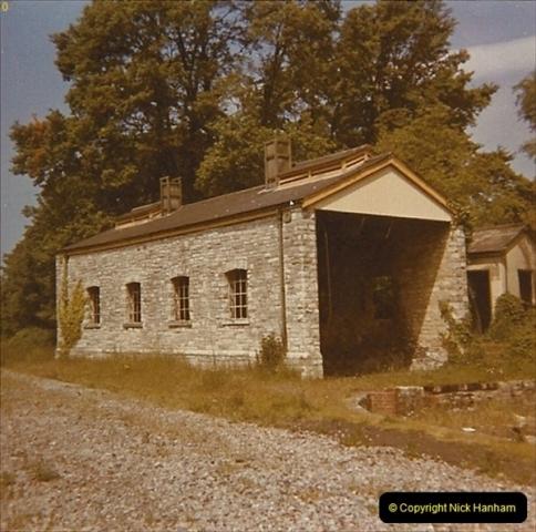 1973 The Swanage Railway.  Swanage engine shed. (8)0008