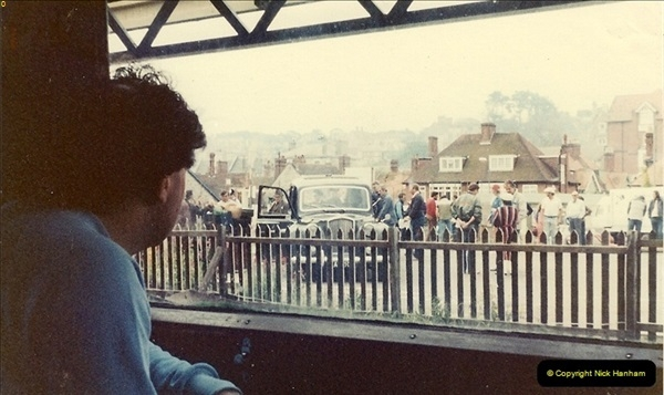 1981-06-15 The Two Ronnies being filmed on the SR (9)0144