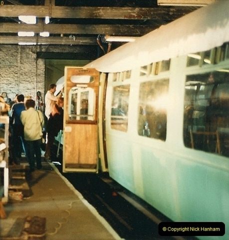 1987-09-30 Your Host driving a special film unitb train. This was the first passenger train to Quarr Farm Crossing.  (5)0513