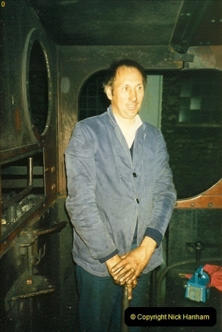 1988-08-28 Your Host driving the Saturday Evening Dining train.  (2)0592