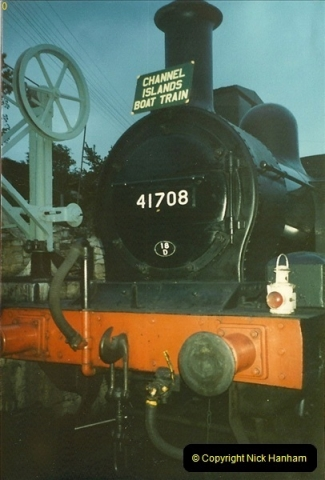 1988-08-28 Your Host driving the Saturday Evening Dining train.  (3)0593