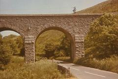 1973 The Swanage Railway.  Corfe Castle Viaduct. (4)0004