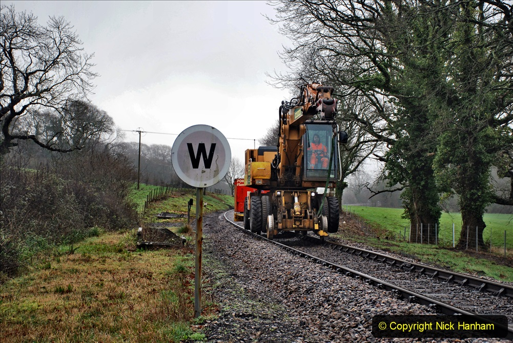 2020-01-31 SR Miscellany. (2) Cowpat Crossing to just past Dickers Crossing lineside tidy work. 002