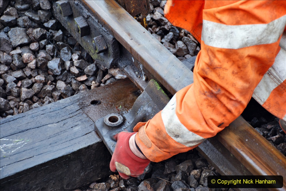 2020-01-31 SR Miscellany. (53) Corfe Castle School Crossing spot sleeper replacement. 053