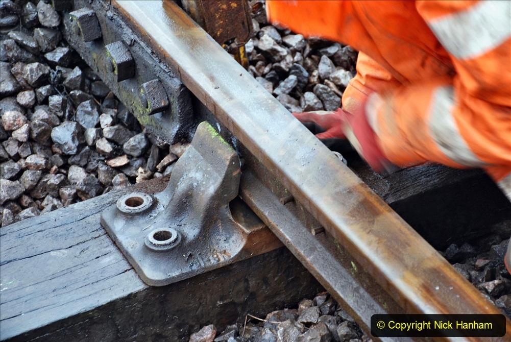 2020-01-31 SR Miscellany. (54) Corfe Castle School Crossing spot sleeper replacement. 054
