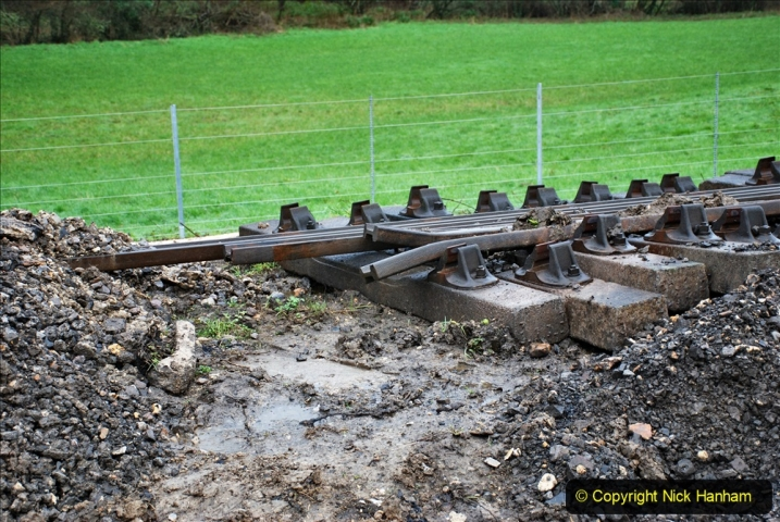 2020-01-31 SR Miscellany. (22) Cowpat Crossing to just past Dickers Crossing lineside tidy work. 022