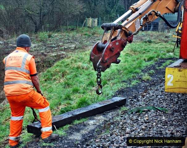 2020-01-31 SR Miscellany. (71) Corfe Castle School Crossing spot sleeper replacement. 071