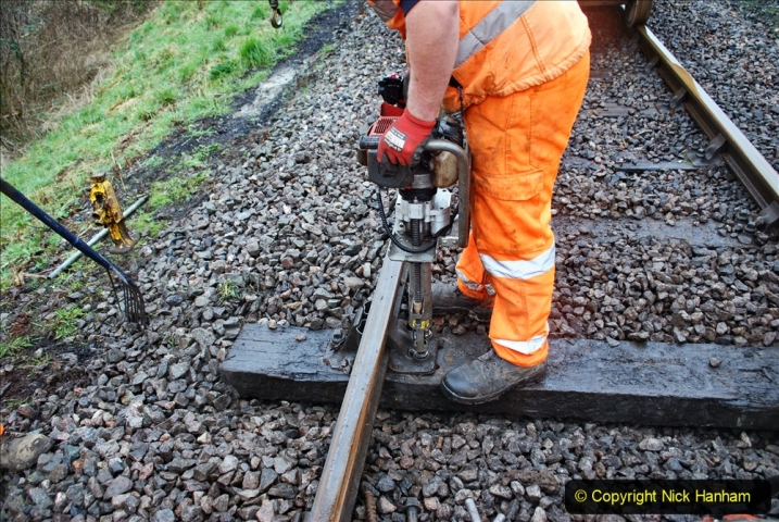 2020-01-31 SR Miscellany. (75) Corfe Castle School Crossing spot sleeper replacement. 075
