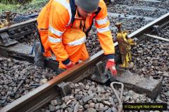 2020-01-31 SR Miscellany. (44) Corfe Castle School Crossing spot sleeper replacement. 044