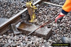 2020-01-31 SR Miscellany. (45) Corfe Castle School Crossing spot sleeper replacement. 045