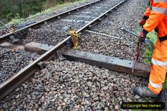 2020-01-31 SR Miscellany. (46) Corfe Castle School Crossing spot sleeper replacement. 046