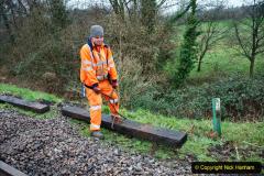 2020-01-31 SR Miscellany. (47) Corfe Castle School Crossing spot sleeper replacement. 047
